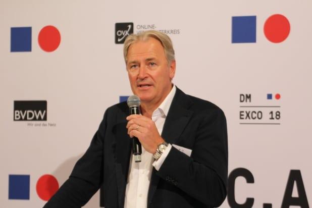 Gerald Böse (Vorsitzender der Geschäftsführung der Kölnmesse GmbH) begrüßte die DMEXCO Journalisten auf dem Pressegespräch in Köln. Foto: Sven Oliver Rüsche.