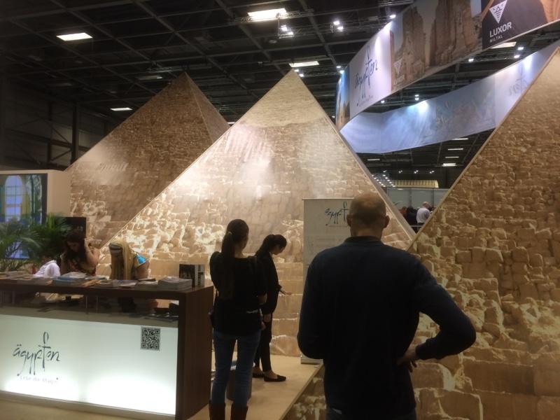 Ägypten ist mit seinen Pyramiden immer wieder ein Hingucker auf der ITB Berlin.