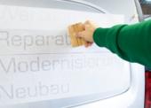 Mit Fahrzeugbeschriftung auf Kundenfang