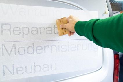 Photo of Mit Fahrzeugbeschriftung auf Kundenfang