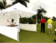 Faltpavillon für Golfspielen