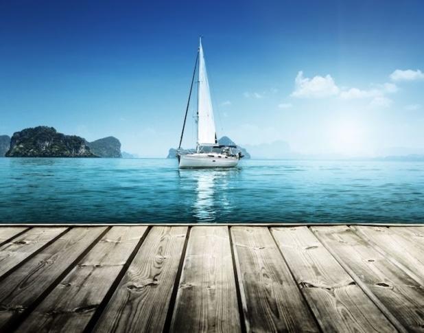 Mit der Yacht auf Erkundungstour.